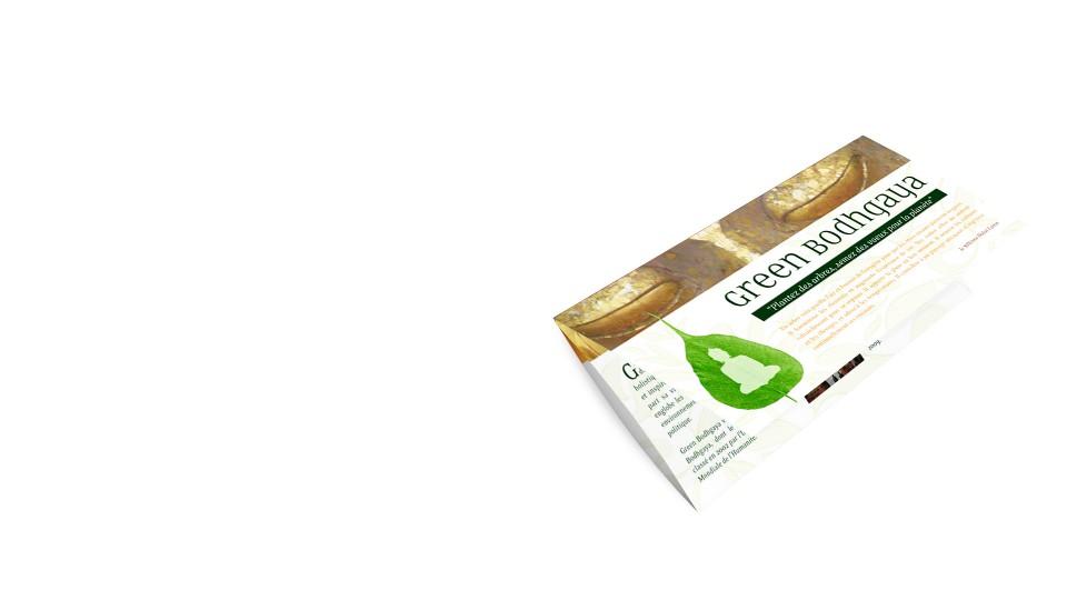 Création communication imprimée brochure en trois volets