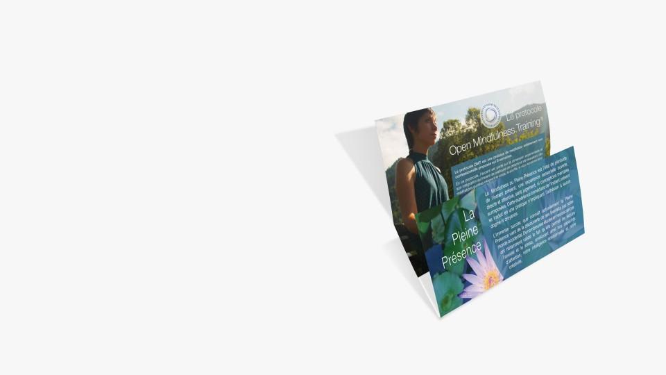 Création communication imprimée Brochure trois volets