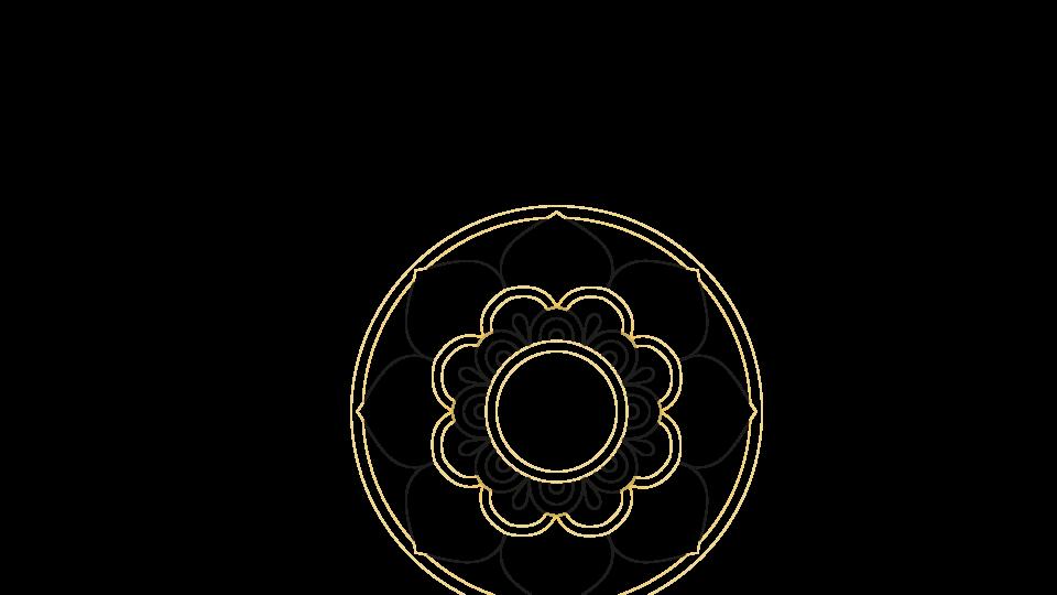 Motif - illustration vectorielle mandala