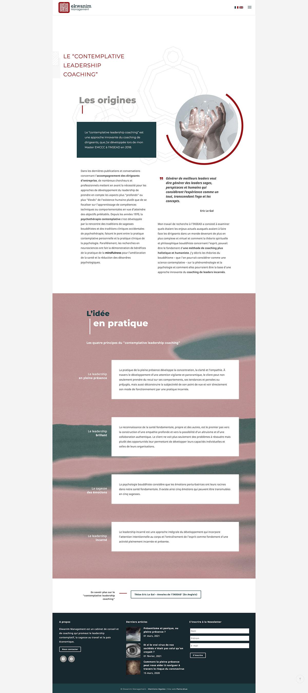 Réalisation Graphisme site web responsive Coaching